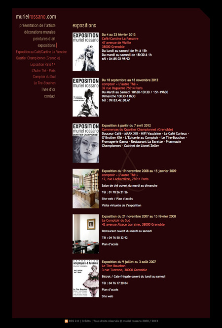 site de Muriel Rossano, artiste peintre